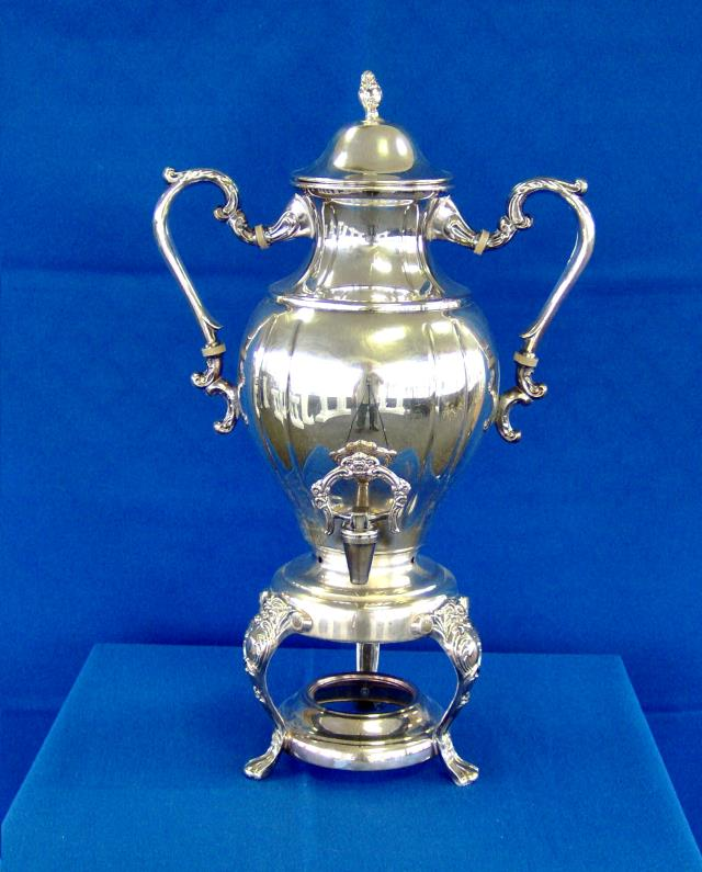 Where to find COFFEE URN, SILVER 25C in Vinton