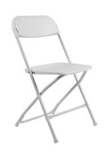 Where to rent CHAIR, WHITE PLASTIC in Vinton VA