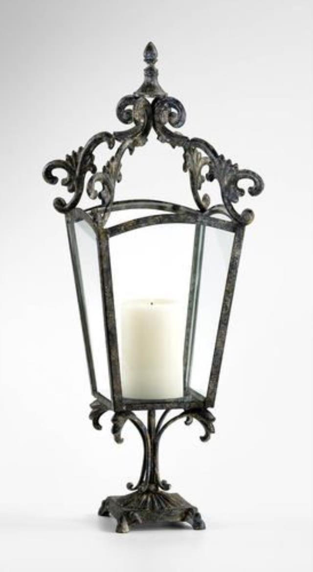 Where to find 27.5  WROUGHT IRON LANTERN CANDLE HOLDER in Vinton