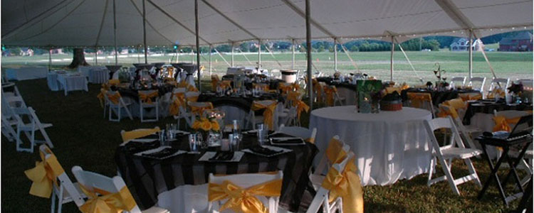 Event rentals in Roanoke Virginia, Bedford, Smith Mountain Lake, Botetourt County, and Vinton VA